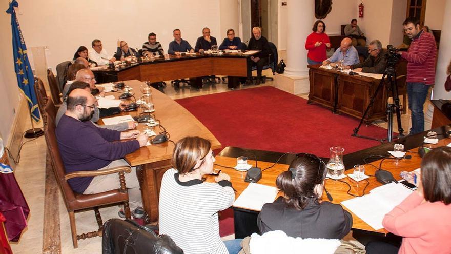 Imagen del pleno del Ayuntamiento de Dénia