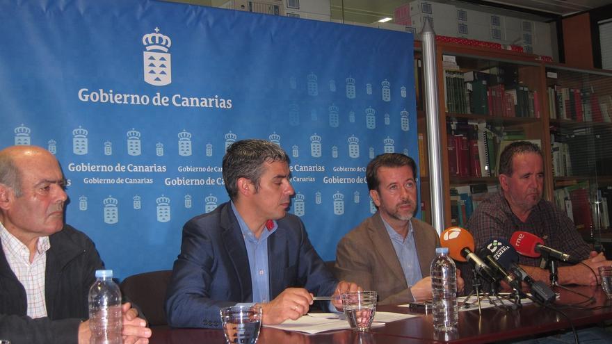 Pedro Molina, Narvay Quintero y Carlos Alonso, de izquierda a derecha