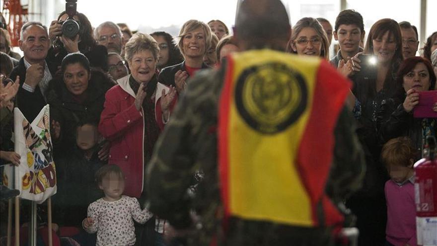 La Brigada de Castillejos de Zaragoza regresa del Líbano