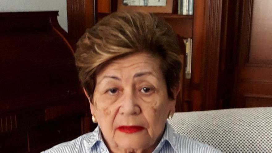 Yyo Moreno, hija de Jesús, fusilado en Las Palmas de Gran Canaria.