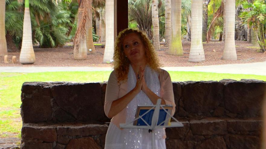 Mariluz Laforet realiza una ponencia ante decenas de asistentes. (Canarias Ahora)
