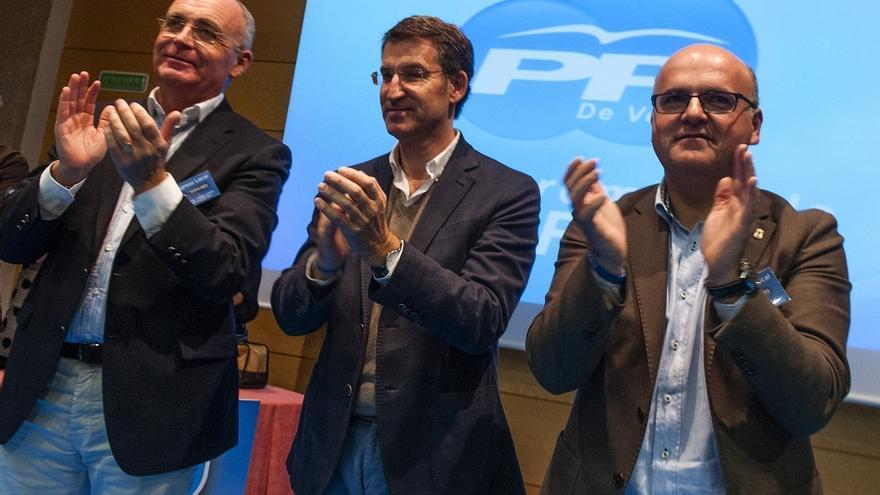 """Feijóo pide votar al PP frente a """"novedosos"""" como Podemos """"porque los que viven de eslóganes morirán"""" al pasar de moda"""