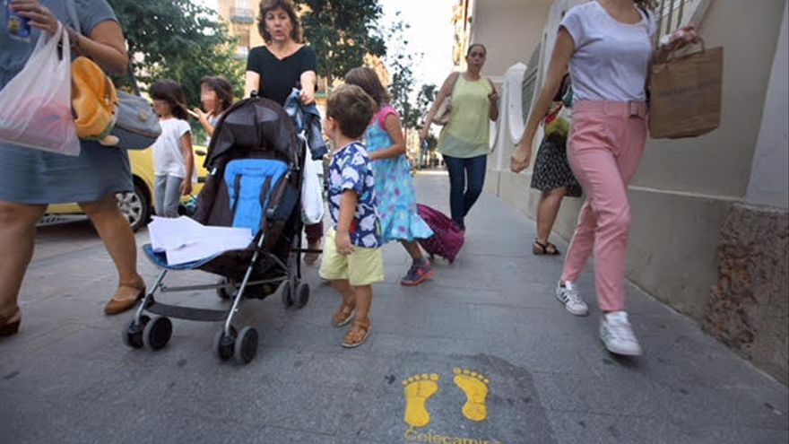 Ruta segura de València, en el barrio de Russafa.