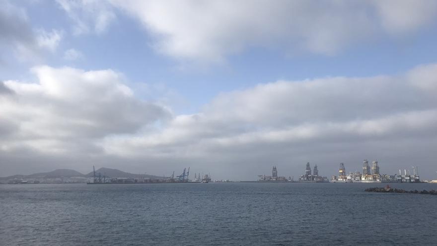 Nubes y claros esta semana sobre la bahía de Las Palmas