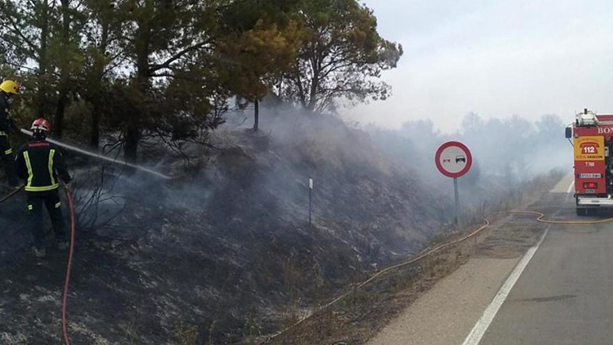 Incendio en Arguis (Huesca).