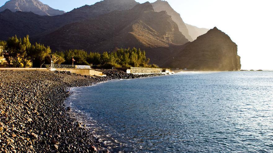 Playa de La Aldea, en el extremo oeste de Gran Canaria. VIAJAR AHORA