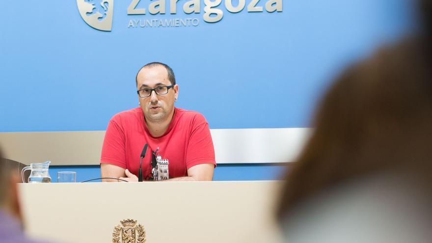 El consejero de Servicios Públicos y Personal del Ayuntamiento de Zaragoza, Alberto Cubero.