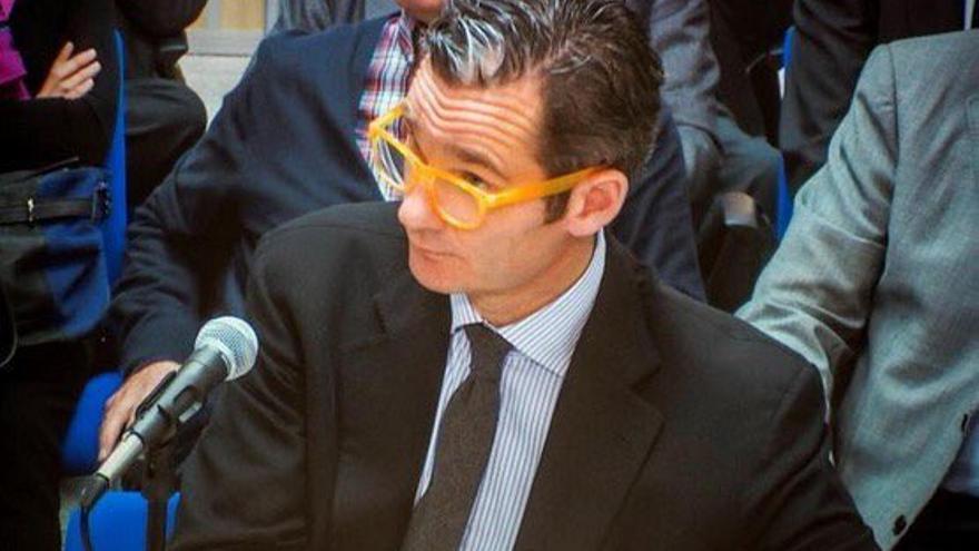 Iñaki Urdangarin prestando declaración ante el fiscal Pedro Horrach