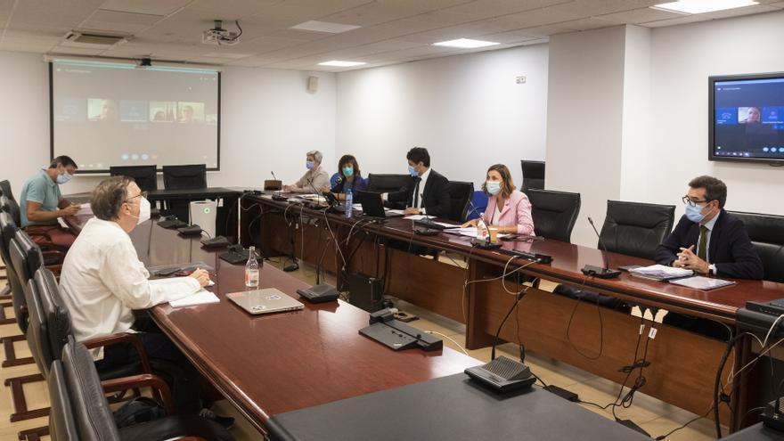 La consejera de Presidencia, Interior, Justicia y Acción Exterior, Paula Fernández, preside la mesa sectorial de Justicia.- Archivo.