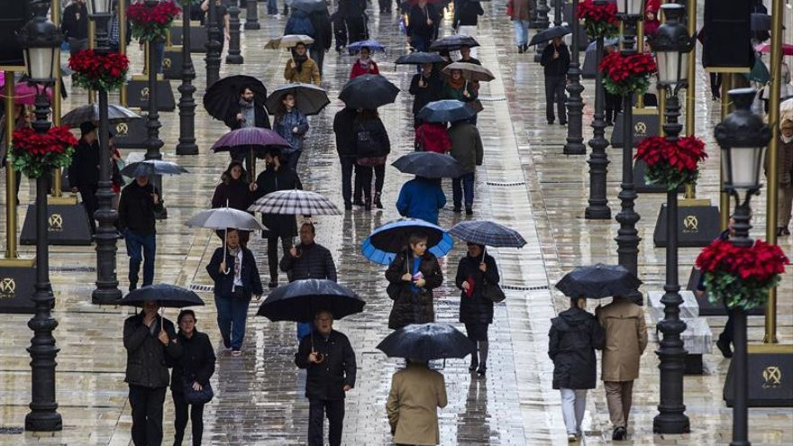Registradas 180 incidencias por la lluvia en la provincia de Málaga
