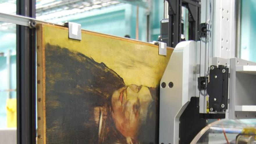 Escáner del 'Retrato a una señora', de Edgar Degas