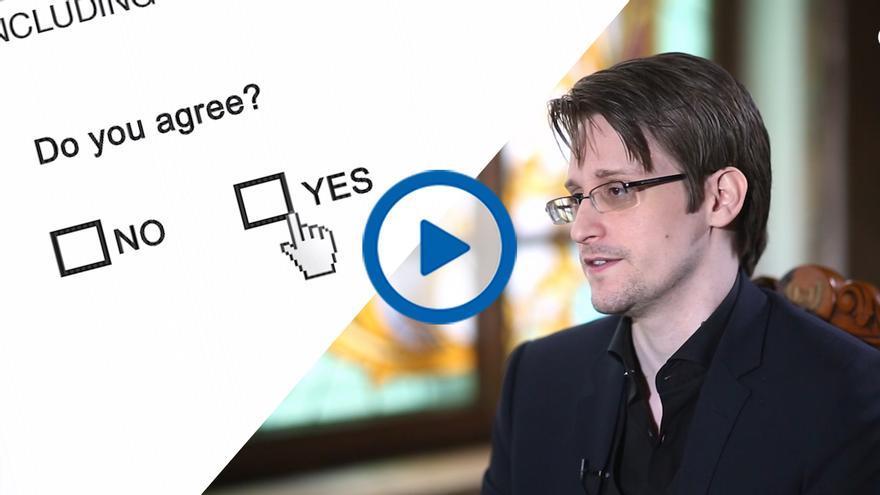 Edward Snowden en su entrevista con eldiario.es