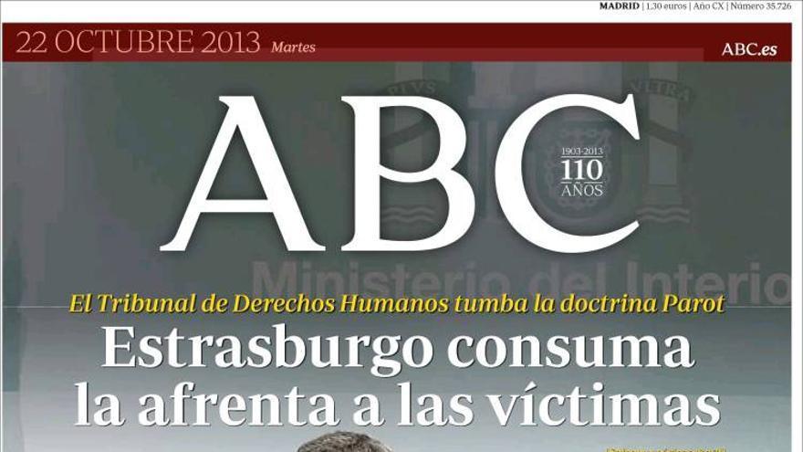 Portada de ABC - Doctrina Parot