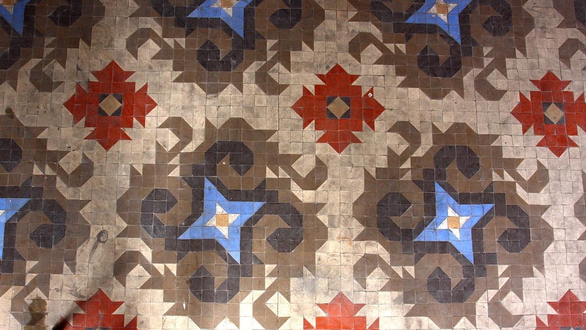 Mosaico Hidráulico de la casa Burés, en Barcelona