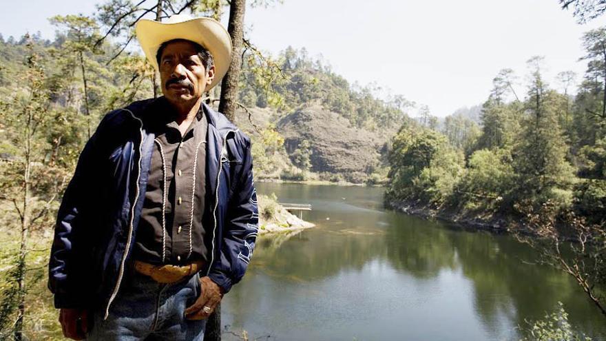 Ildefonso Zamora lleva veinte años luchando contra la tala ilegal de los bosques en San Juan Atzingo, México / Imagen: Centro Prodh-Greenpeace