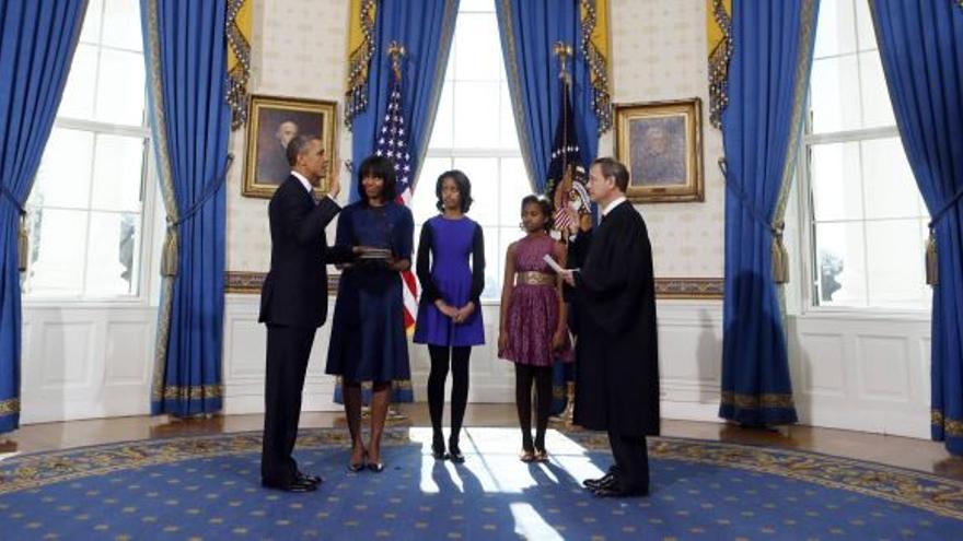 Obama jura el cargo el domingo para iniciar su segundo mandato.