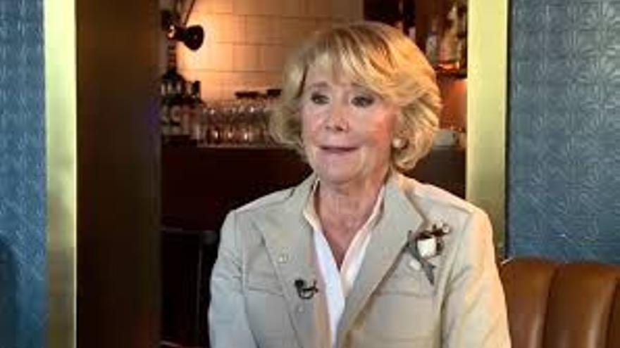 Esperanza Aguirre es entrevistada en La Sexta Noche