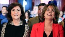 La vicepresidenta junto a la ministra de Justicia, Dolores Delgado.