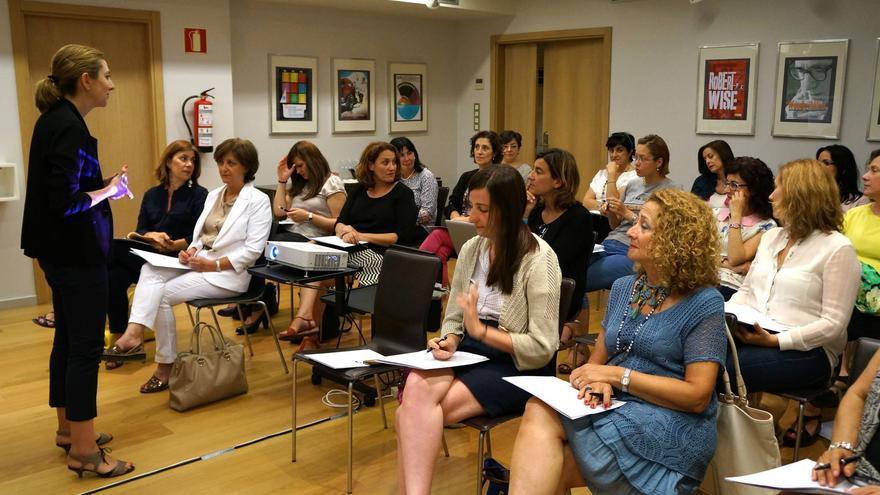 Un grupo de asociadas en un curso de la Asociación de Profesionales y Empresarias de Gipuzkoa.