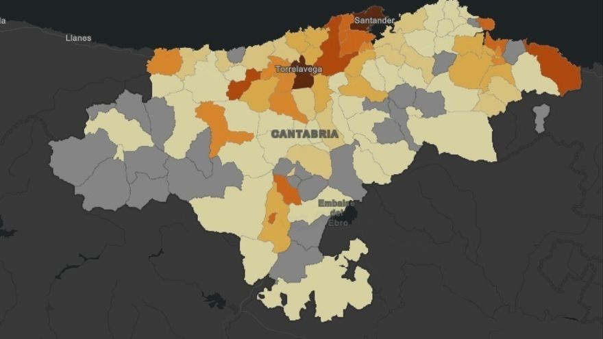 Torrelavega ya suma tantos fallecidos por COVID-19 como Santander y tiene más casos activos
