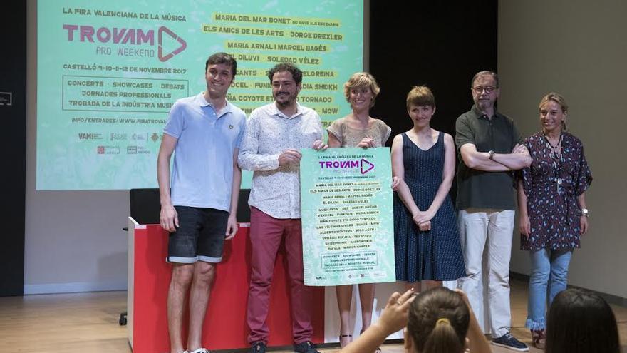 Presentación de la quinta edición del festival Trovam en Castellón.