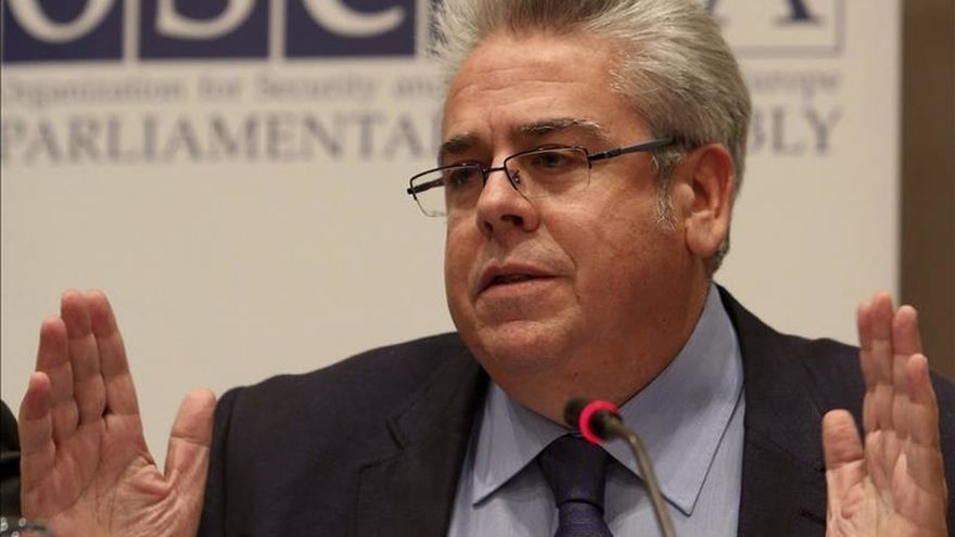 Ignacio Sánchez Amor, en un acto de la Organización para la Seguridad y la Cooperación en Europa (OSCE)