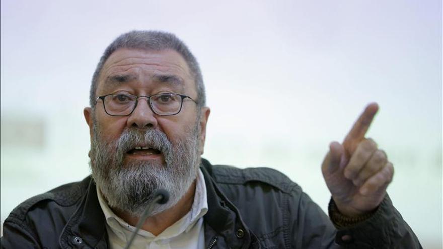 Méndez (UGT) dice que el problema político de Cataluña no se resuelve con la Fiscalía