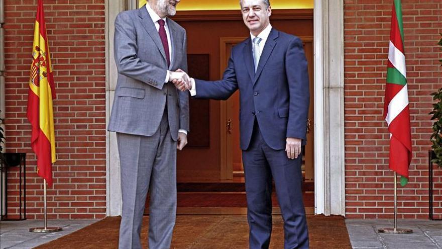 El presidente del Gobierno, Mariano Rajoy, e Íñigo Urkullu, en Moncloa.