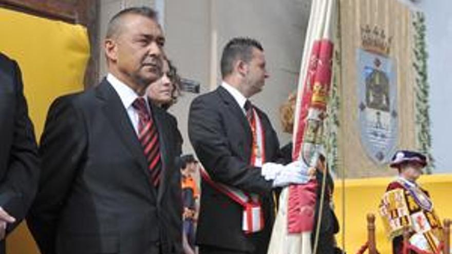 Rivero, en los actos de celebración de la festividad de la Virgen de Candelaria. (ACN PRESS)