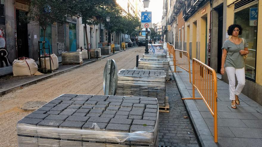Obras en la calle Manuela Malasaña en 2017 | SOMOS MALASAÑA
