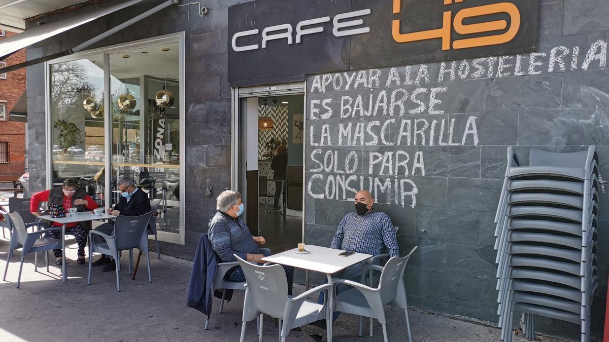 La terraza del Café HF49 de Vitoria
