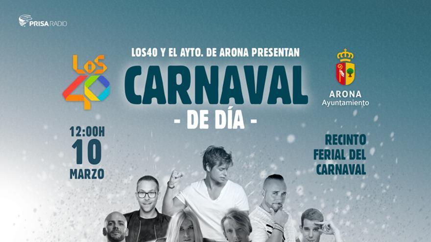 Cartel del Carnaval de Día de Los Cristianos, este sábado, 10 de marzo