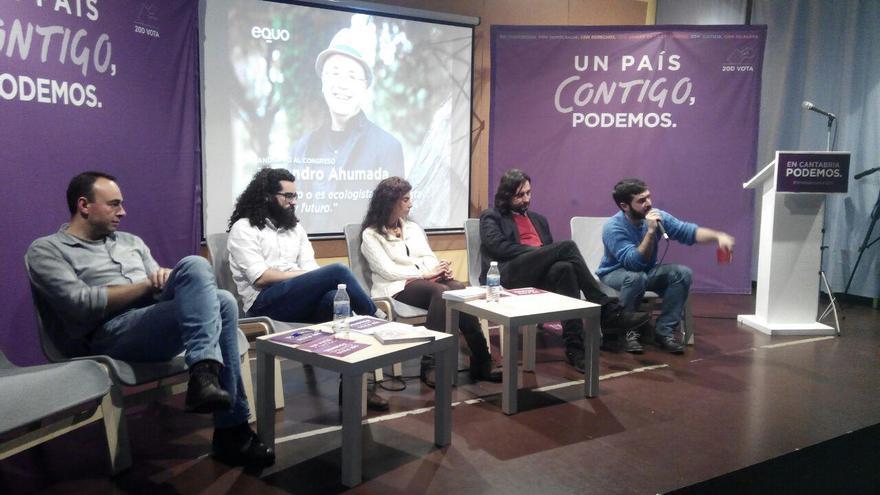 Acto electoral de Podemos celebrado en Torrelavega.