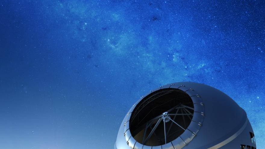 recreación del Telescopio de Treinta Metros.