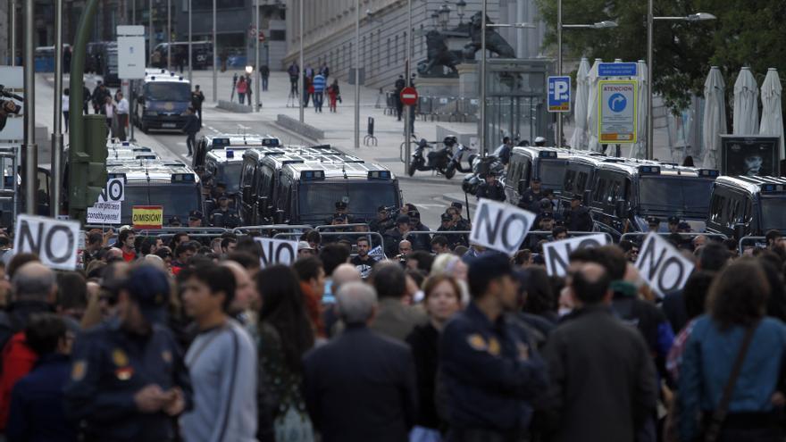 El 25S y el 15M convocan un nuevo 'Rodea el Congreso' con motivo de la huelga y llaman a permanecer toda la noche