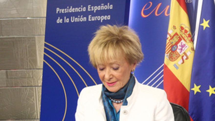Vicepresidenta primera del Gobierno, María Teresa Fernández de la Vega