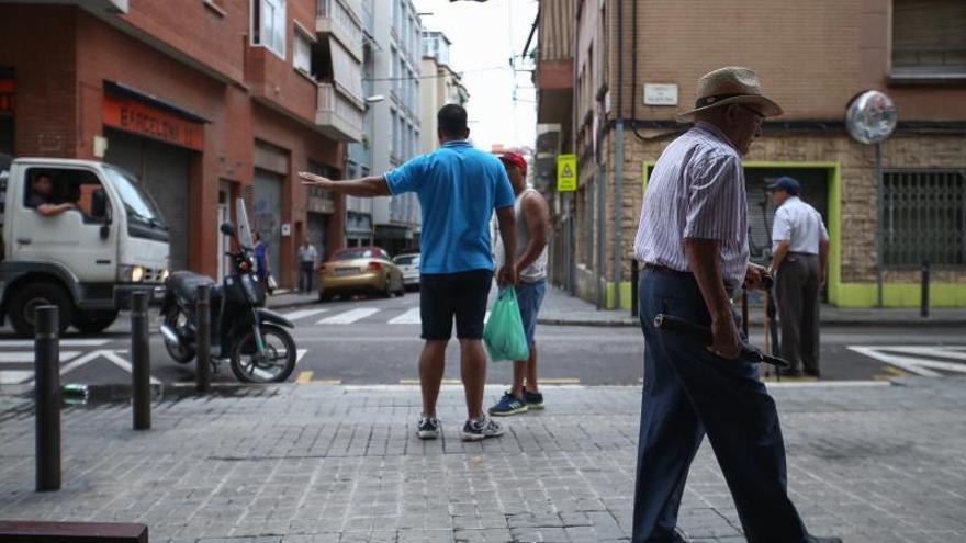 La calle Vilapicina del distrito de Nou Barris de Barcelona donde un hombre de 47 años y de origen dominicano falleció la semana pasada en el transcurso de una pelea.