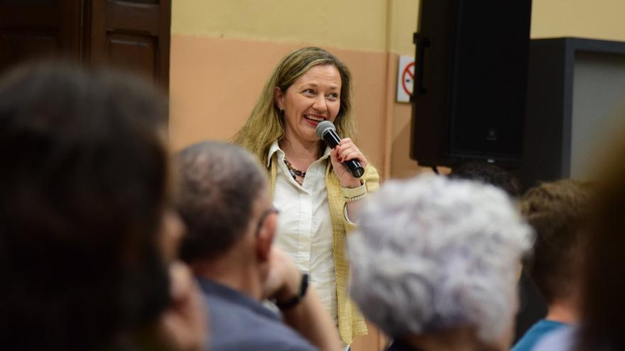 Victoria Rosell en un acto en Palma.