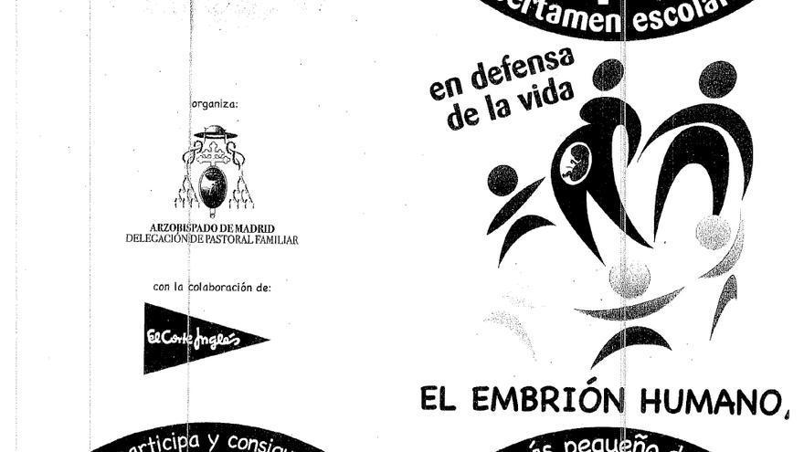 La portada del folleto en el que se explican las bases del concurso.