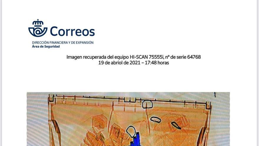 Imagen de los sobres con balas en su interior enviados al ministro Fernando Grande-Marlaska, Pablo Iglesias y la directora de la Guardia Civil