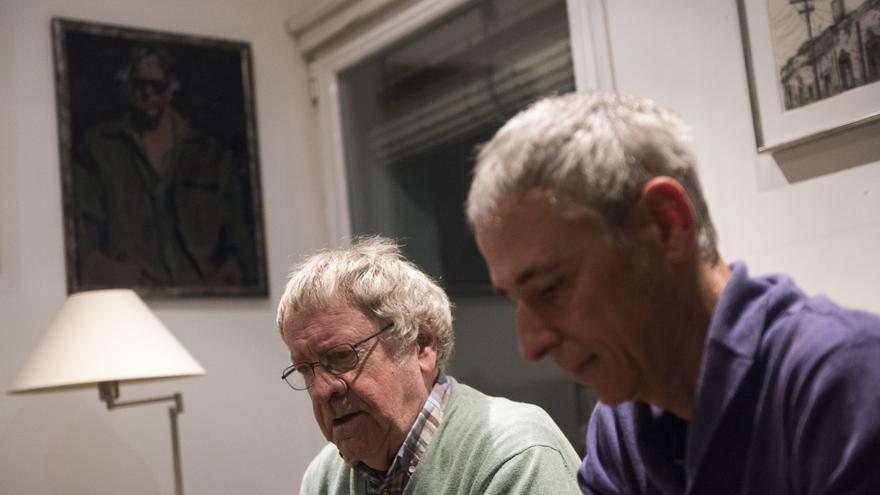 Ian Gibson y Quique Palomo
