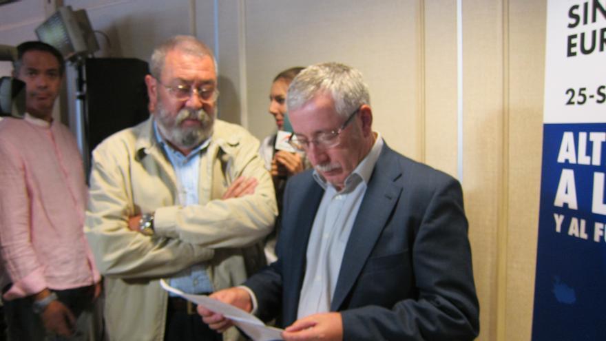 Toxo y Méndez creen que el problema de Cataluña no es el modelo de Estado, pero abogan por uno federal