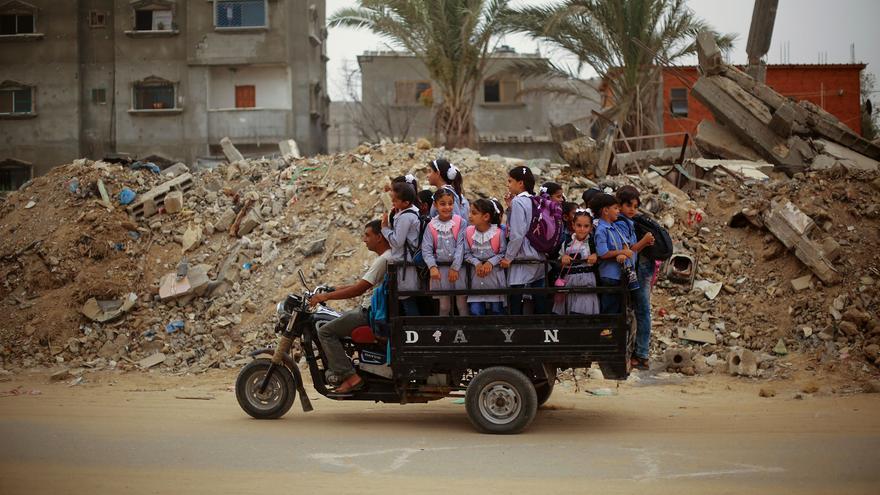 Niños en Gaza.