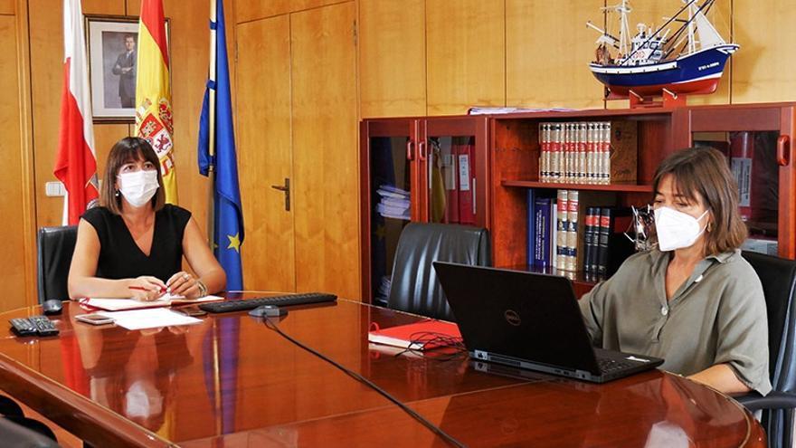 La consejera de Economía y Hacienda, María Sánchez, y la directora general de Fondos Europeos, Paz Díaz Nieto, participan en la conferencia sectorial del Plan de Recuperación, Transformación y Resliencia