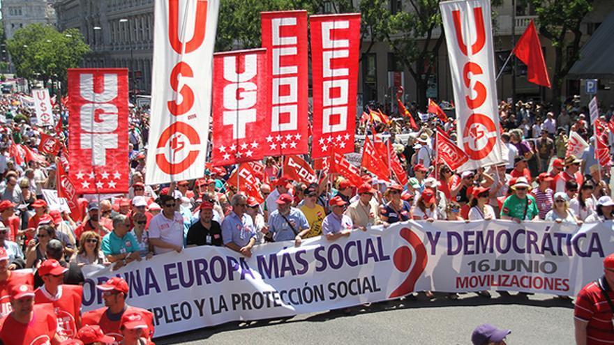 Manifestación del 16J en Madrid. FOTO: Fran Lorente/CCOO Madrid