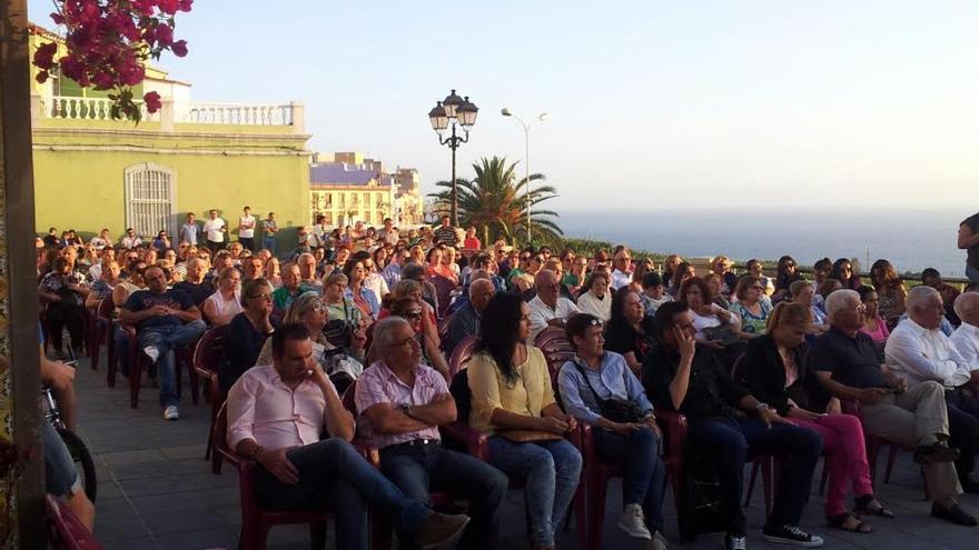 Mitin de Unión Bagañeta, en Tazacorte, este jueves.