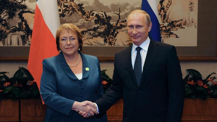 "Putin constata un ""diálogo intenso político"" entre Rusia y Chile"