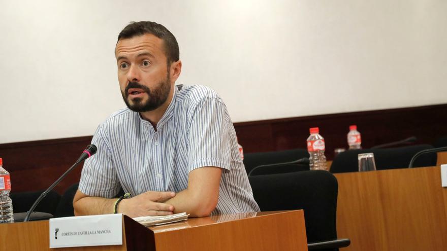 José Luis Escudero en una intervención en las Cortes de Castilla-La Mancha