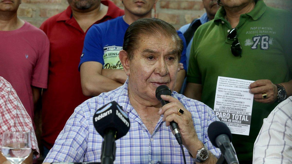 Guillermo Pereyra, secretario General del sindicato de Petróleo y Gas de Neuquén, Río Negro y La Pampa