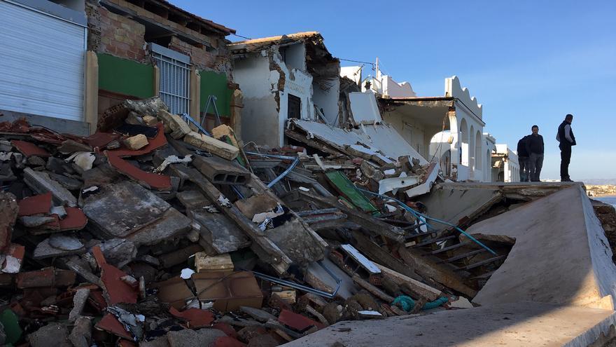 Los efectos del temporal Gloria en la playa de las Devesas de Dénia.